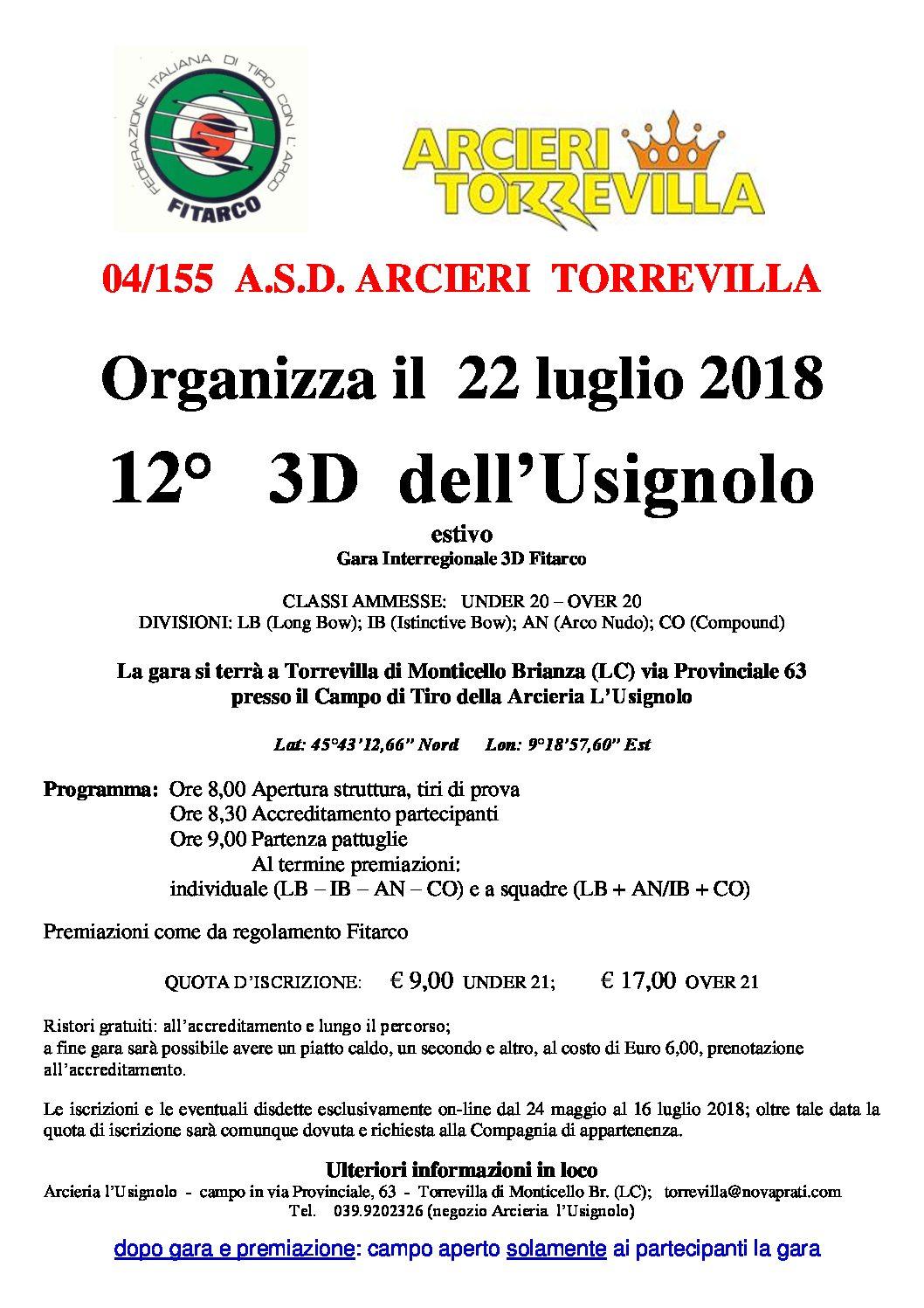 Calendario Gare Fitarco.12 Gara Ufficiale Fitarco 3d Dell Usignolo Arcieri
